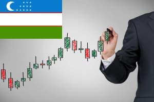 График флаг Узбекистана