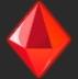Красный кристалл
