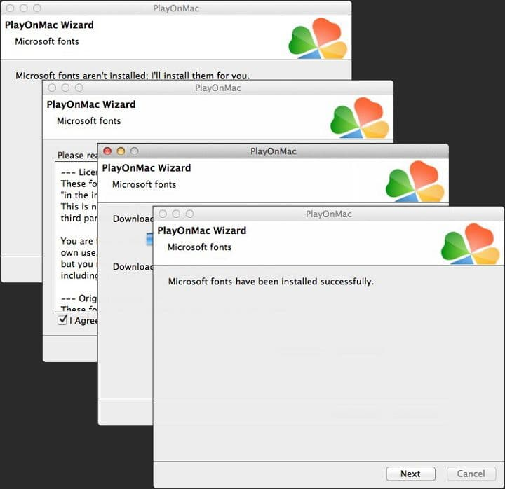 PlayOnMac шрифты
