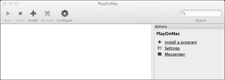 PlayOnMac запущен