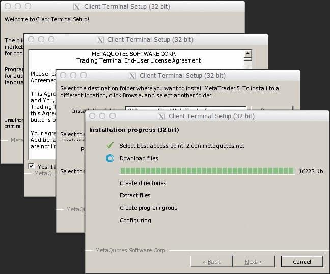 Завершение установки MetaTrader 4
