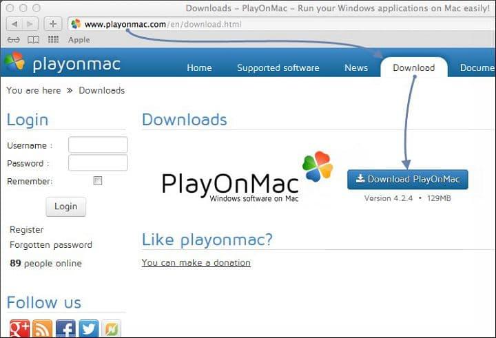 Скачивание PlayOmMac