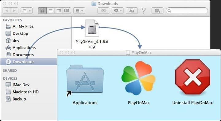 Запуск PlayOmMac