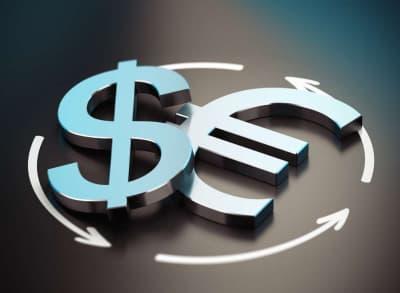 значок доллара и евро