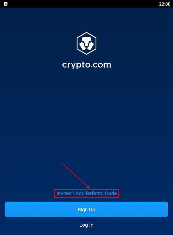 Ввод реферального кода в crypto com 50
