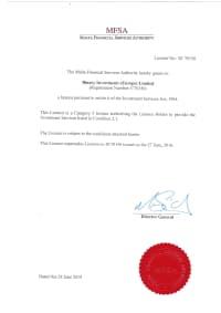 Сертификат Мальта