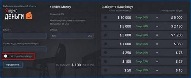 Бонусные програмы PocketOption