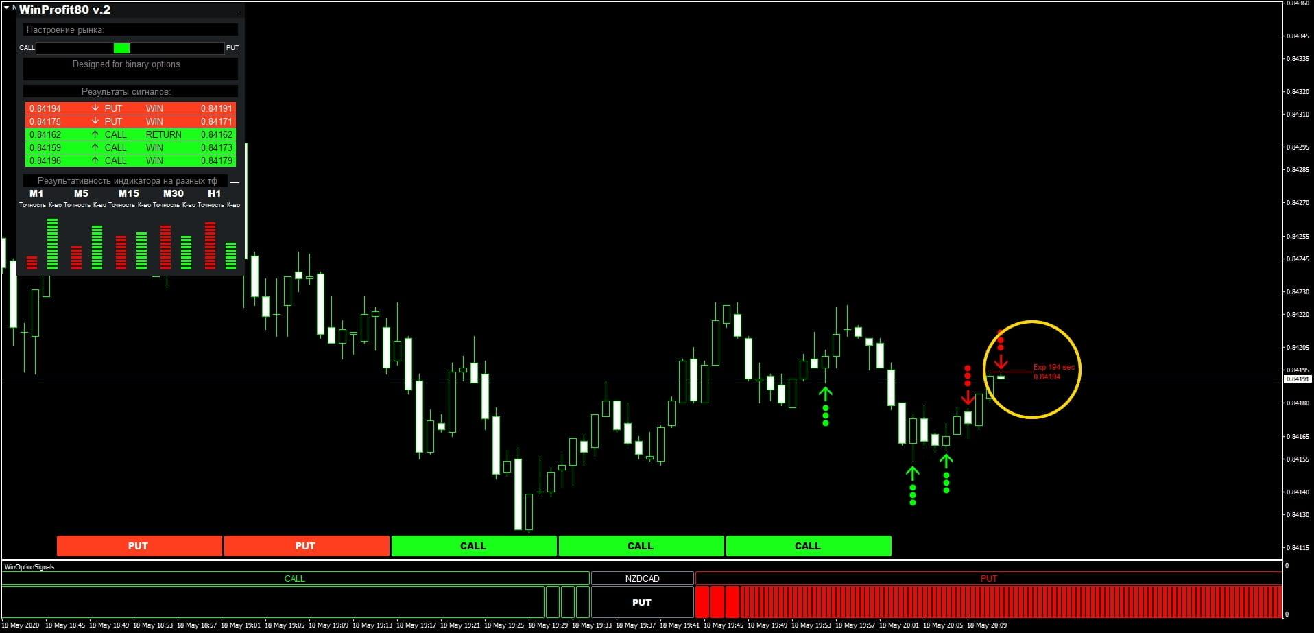 Индикатор win-80 покупка опциона put