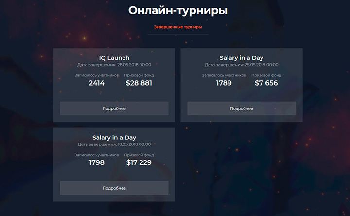 Турниры IQ Option