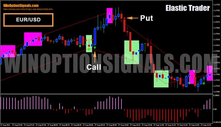 Покупка бинарных опционов EUR/USD стратегия Elastic Trader