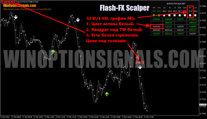 опцион put в Flash FX Scalper