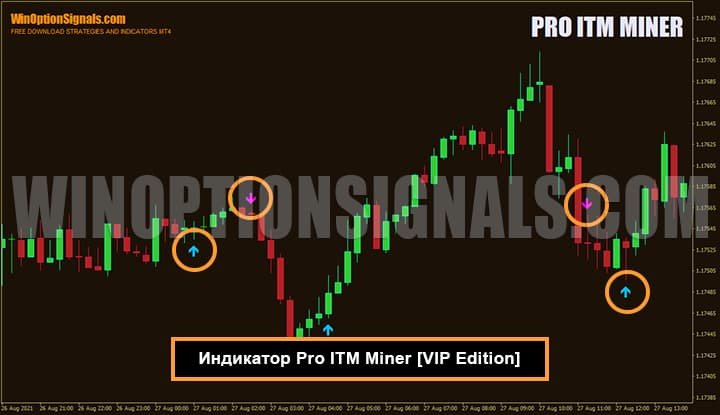 Индикатор для бинарных опционов Pro ITM Miner VIP
