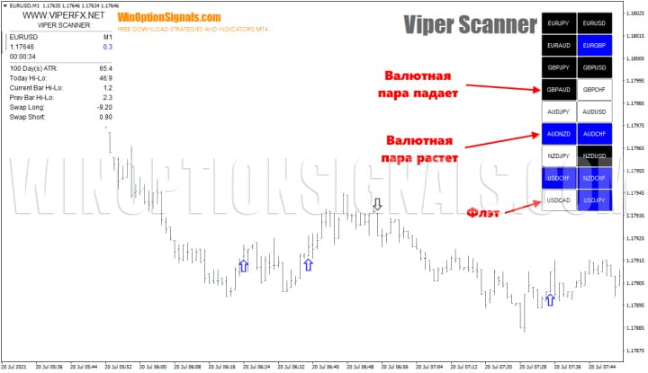 тренд в стратегии viper scanner для бинарных опционов
